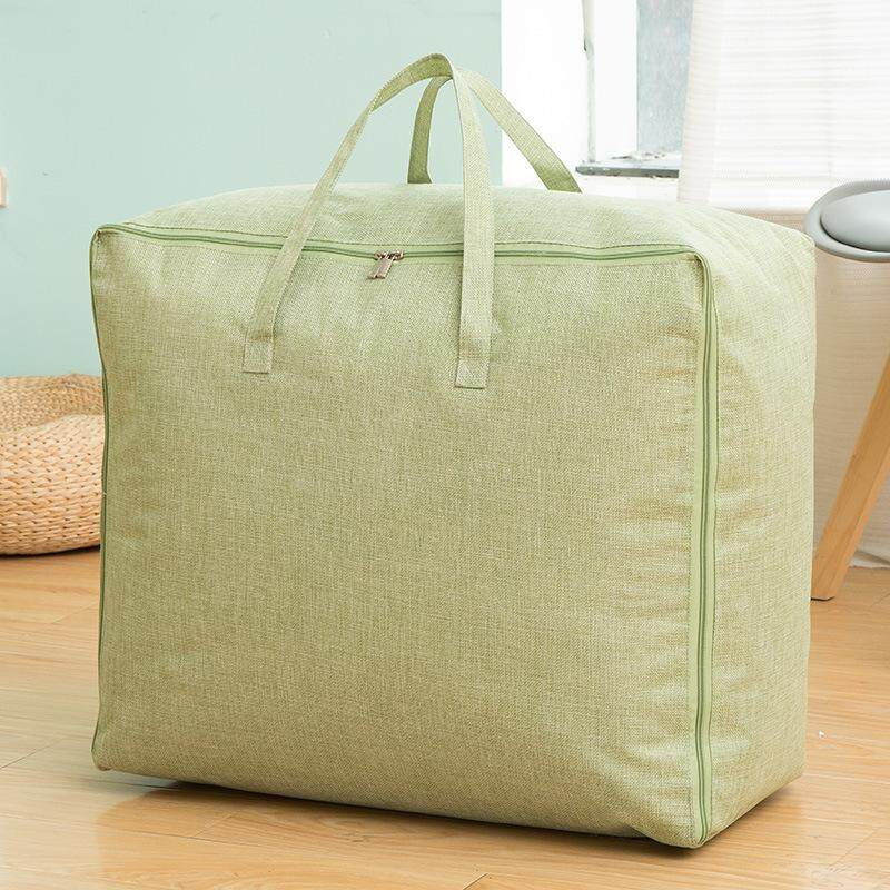 JOHNN New Cotton and linen Storage bag Household quilt bag Oversized Moving bag Storage bag