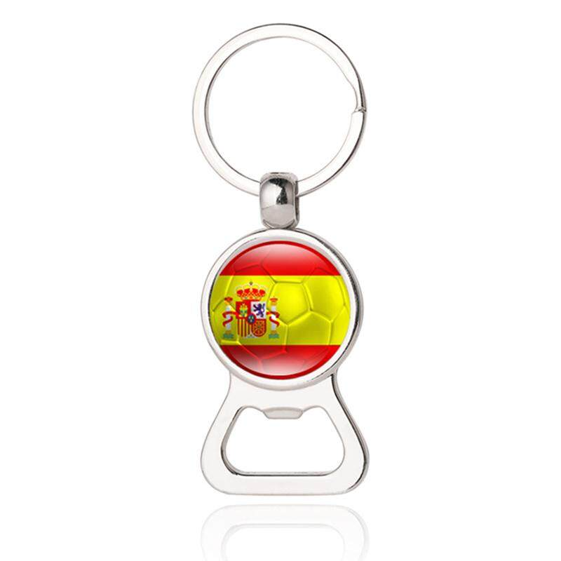 Airforce 2018 World Cup Creative Football Keychain Flag Trophy Beer Bottle Opener Keyring For Soccer Fans Souvenir Gift