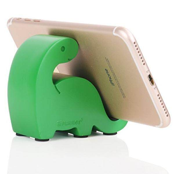Smartphone Cases Stands Plinrise Resin Art Craft Cute Mini Dinosaur Desktop Cell Phone Stand Mounts,Candy Color Animal Dino Smart Phone Holder For iPhone iPad Samsung Tablet Kindle - Green - intl