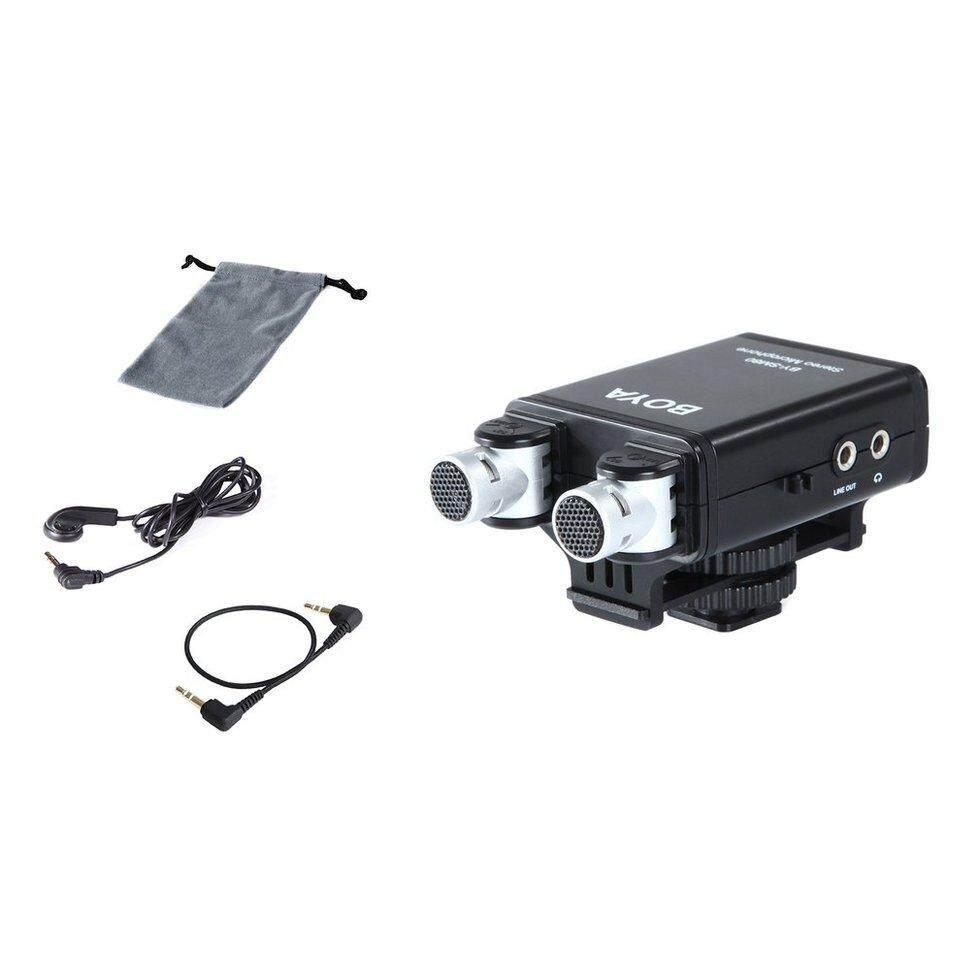 Fitur Goft Boya By Sm80 Stereo Condenser Video Microphone For Dslr M1 Clip On Mic Canon Nikon Sony Camera Kamera Universal Camcorder Iphone Detail Gambar Black Terbaru