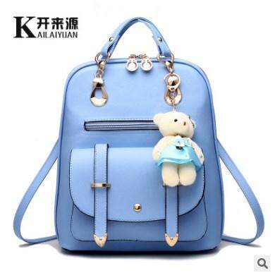 Panic buying 100 take college breeze personality for day double the shoulder PU skin 2018 new