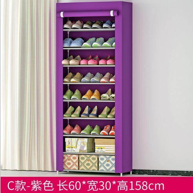 Large Embled Shoe Cabinet Reinforced 9 Story Simple Dust Proof