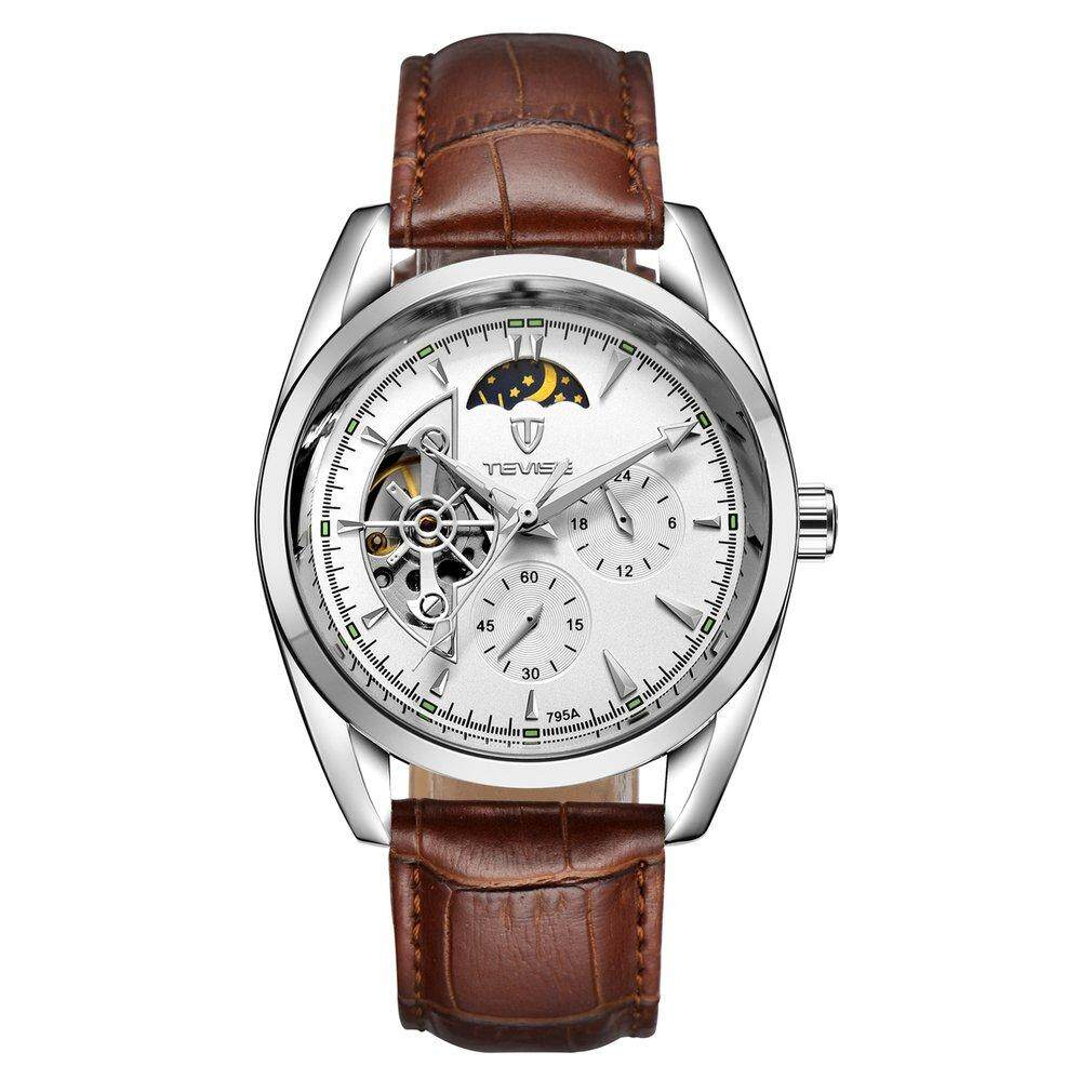 TEVISE 795a Business Men Hollow Out Mechanical Stainless Steel Wristwatch Malaysia