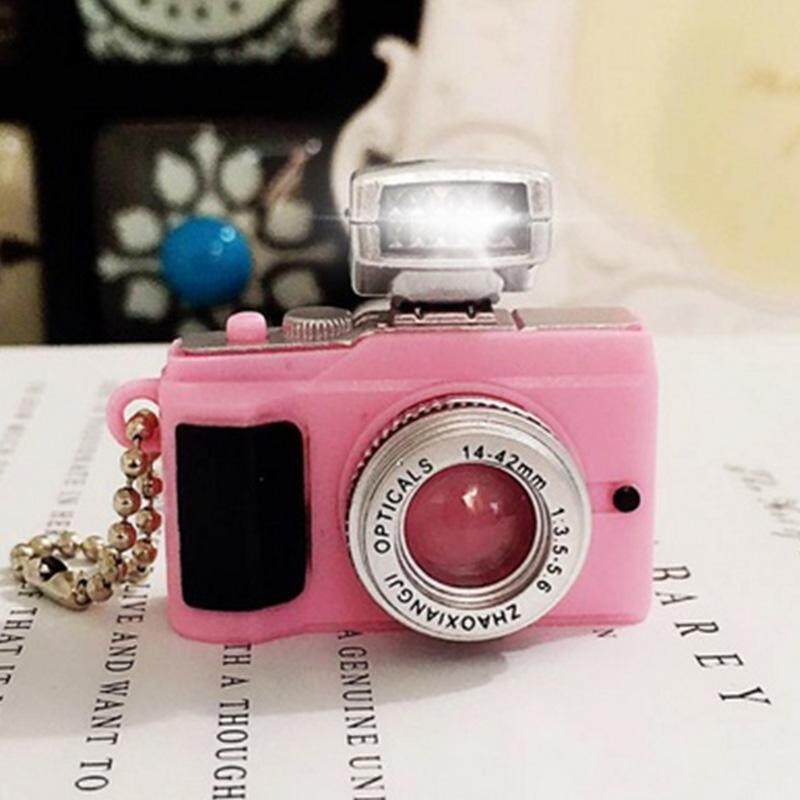 Hình ảnh Vishine Mall free shipping Mini Toy Retro Camera Charm with LED Light & Sound Keychain Ring Keyring Pendant