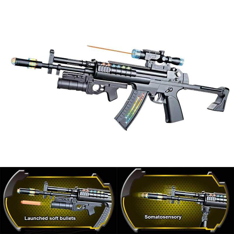 Hình ảnh Kids Toy World Warriors Assault Rifle Machine Toys Xmas Birthday Gifts - intl