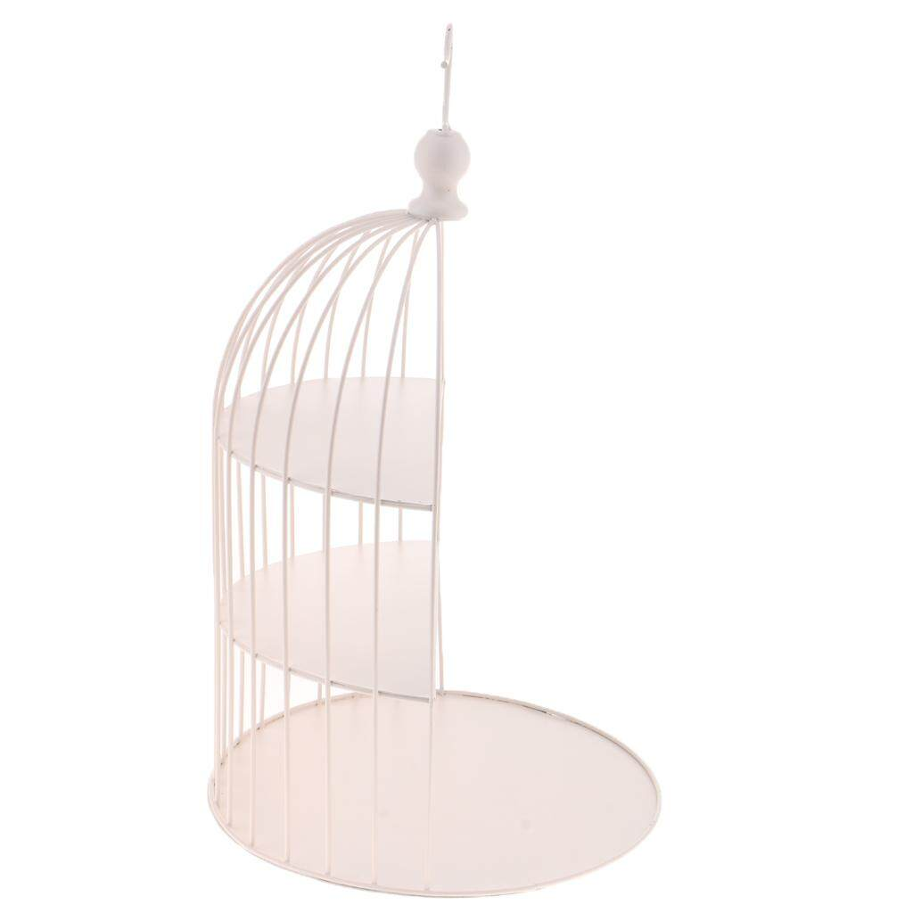 Loviver Vintage 3 Layer Bird Cage Cake Stand Afternoon Tea Snack Rack Pan