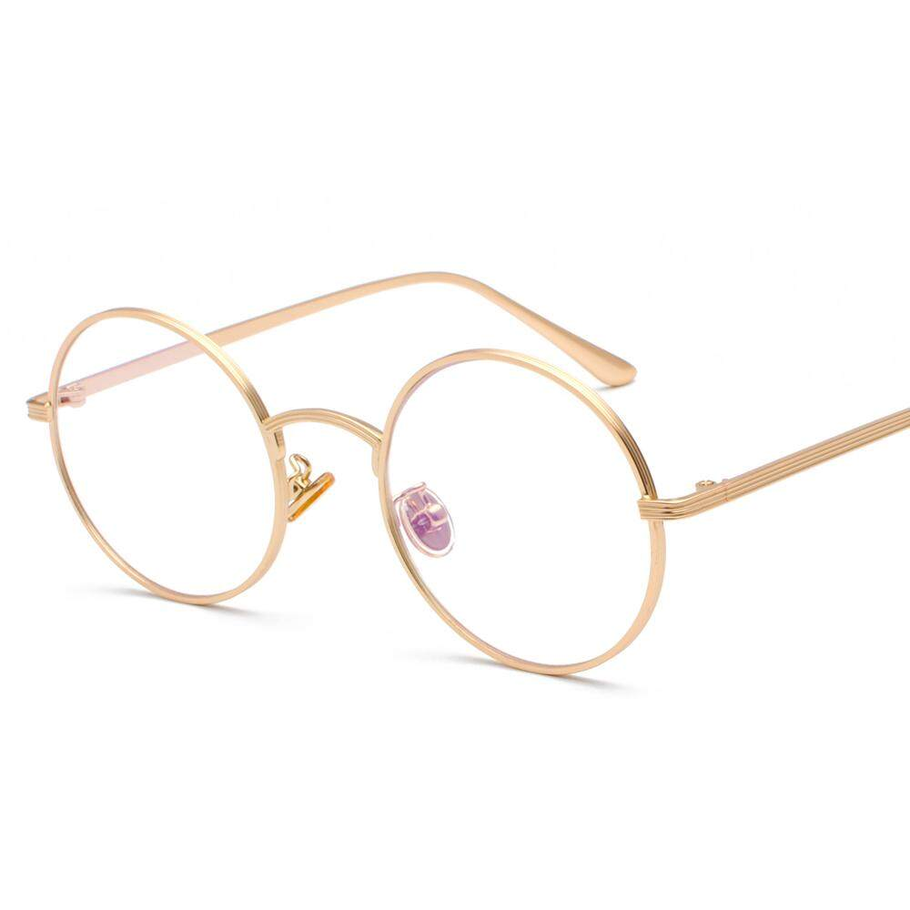 7543360e4a929 Women Eye Glasses Frames Round for Men 2019 Clear Lens Vintage Retro Round  Circle Metal Frame