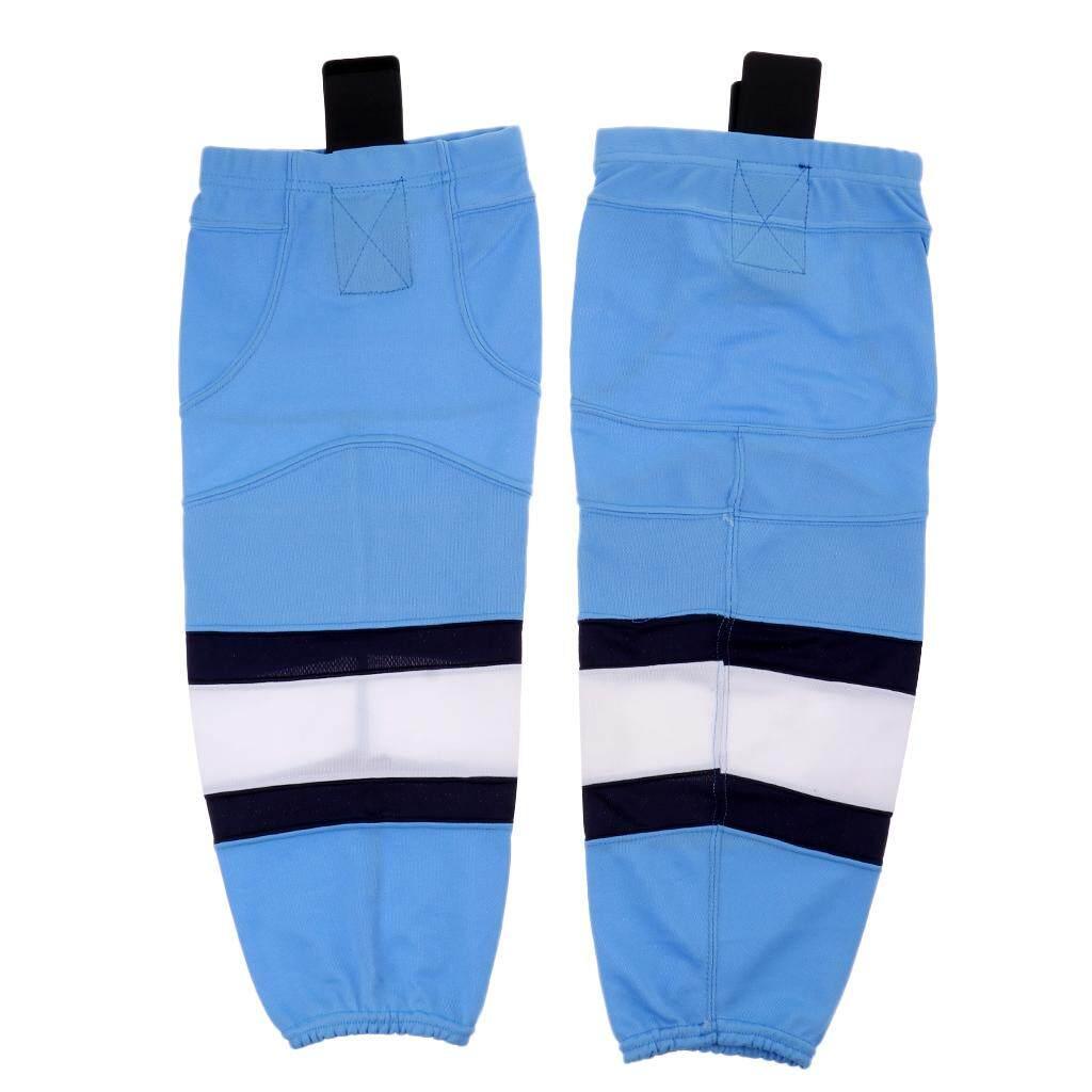Miracle Shining Adult Senior Junior Kids Quick Dry Mesh Ice Hockey Socks Stockings M Blue By Miracle Shining.