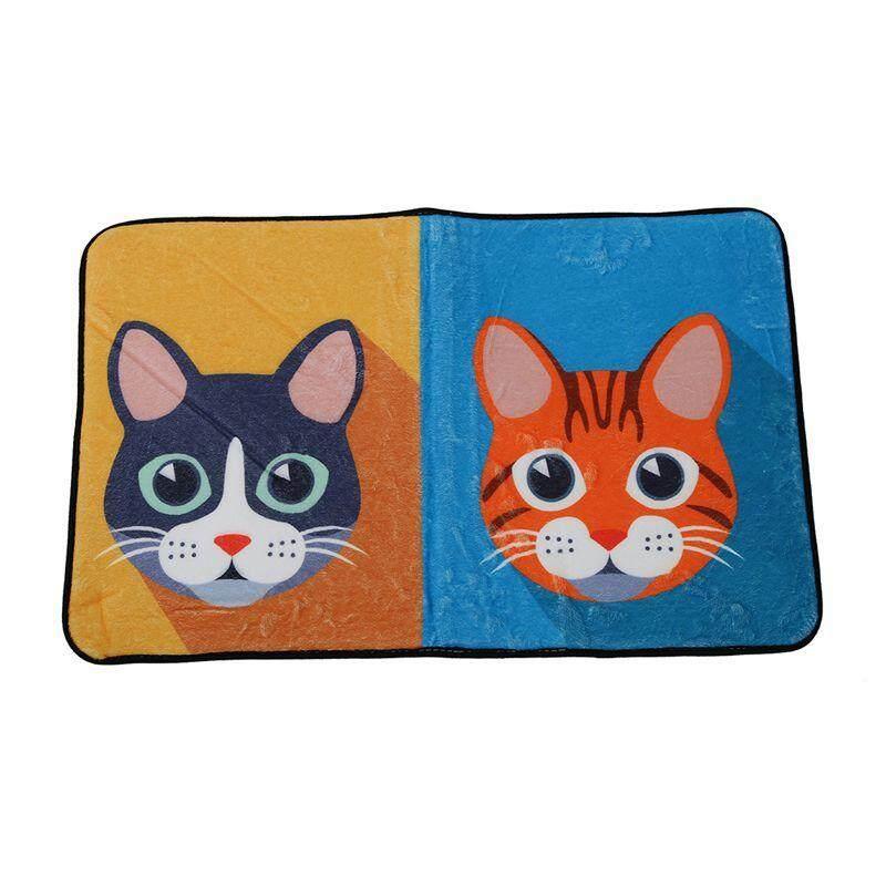 Creative Cartoon Door Bathroom Floor bedroom Mat Entrance Mat (Four Cat Multicolor 50*80cm 1#)