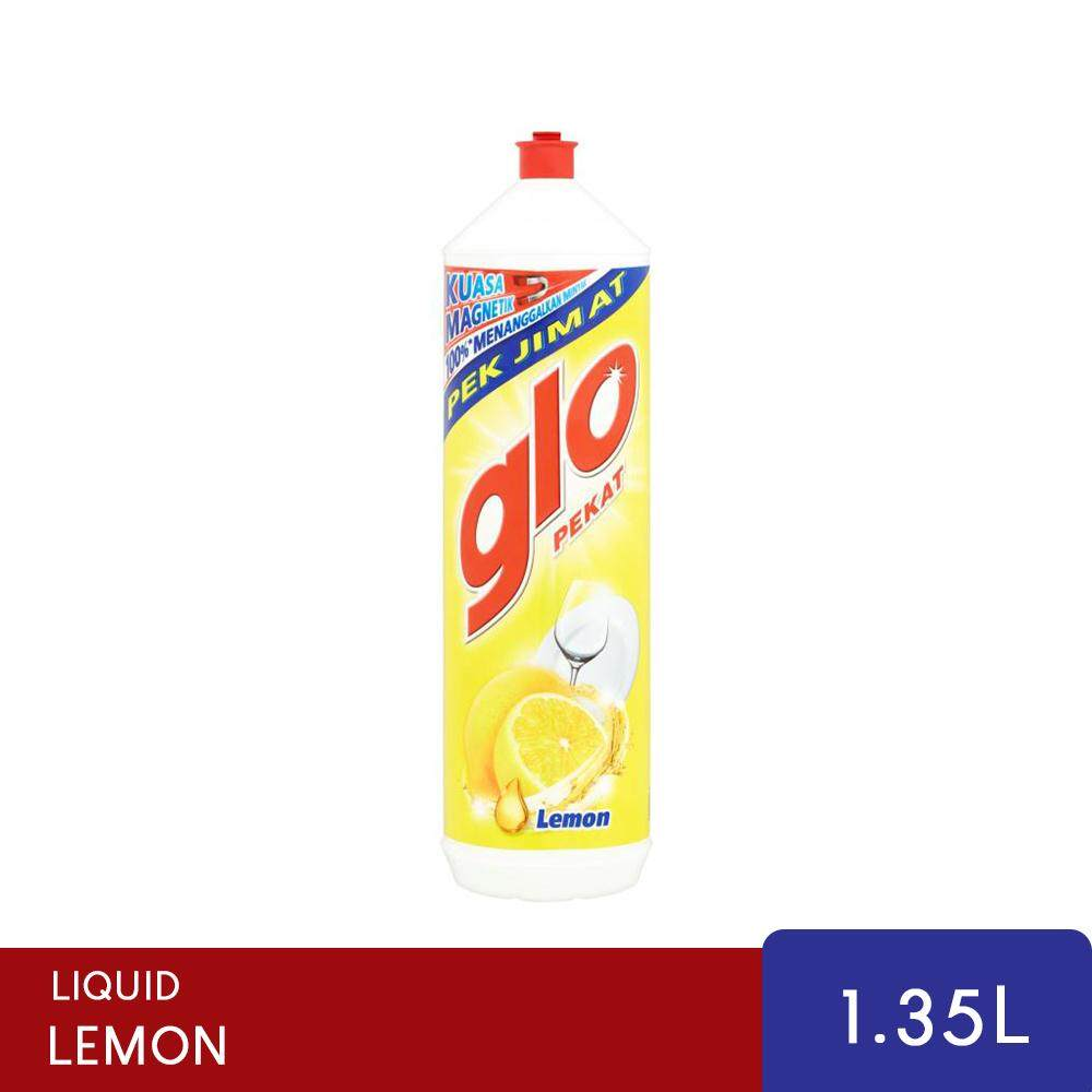Glo Lemon Concentrated Dishwashing Liquid 1.35L