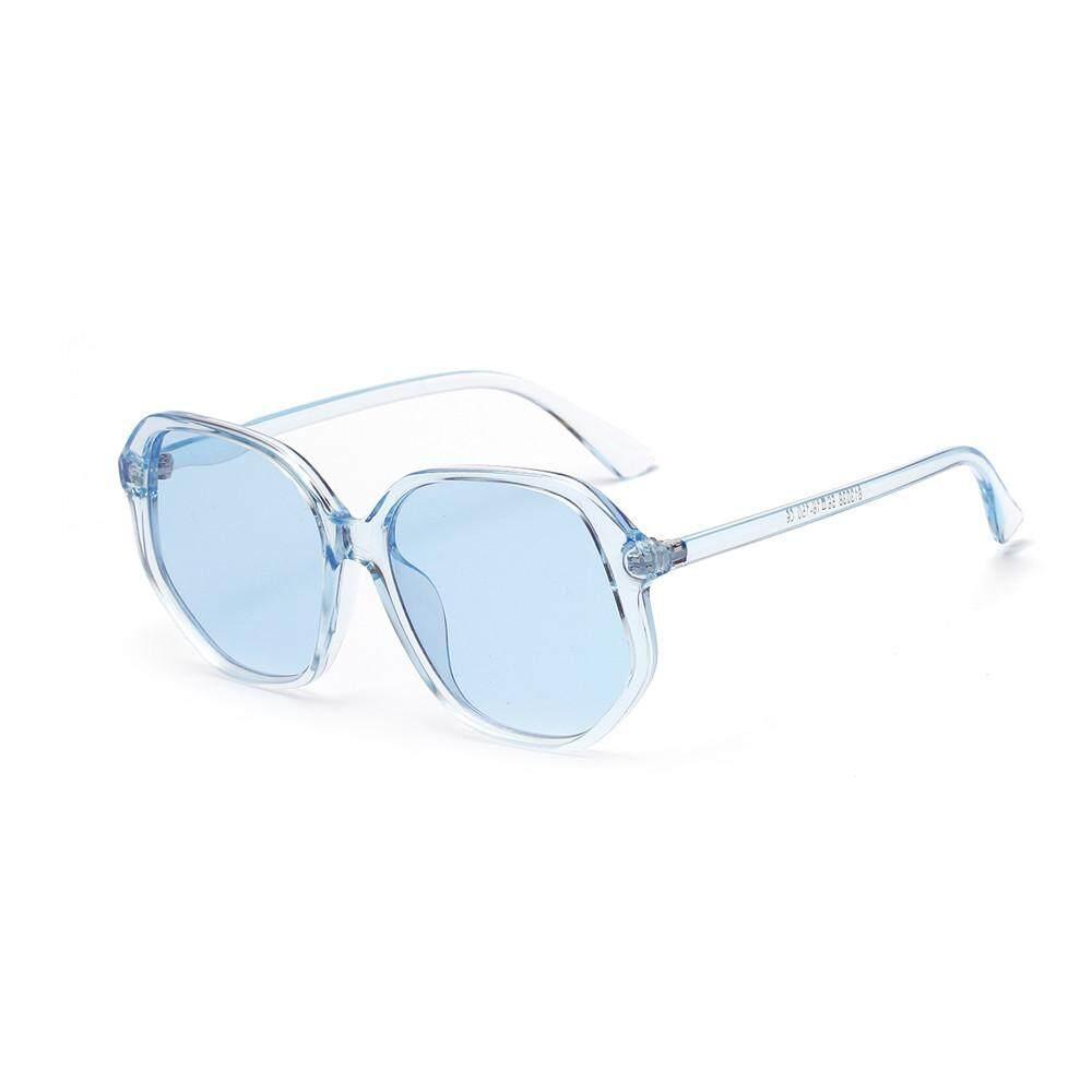 Vintage Wanita Pria Bingkai Persegi Warna Kacamata Terintegrasi Kacamata Anti-uv
