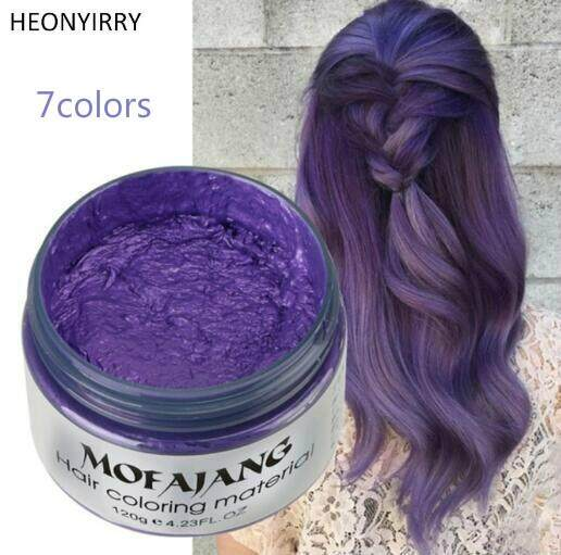 Women Men Disposable Hairstyle Styling Modeling Hair Coloring Wax(purple) By Rongshida.