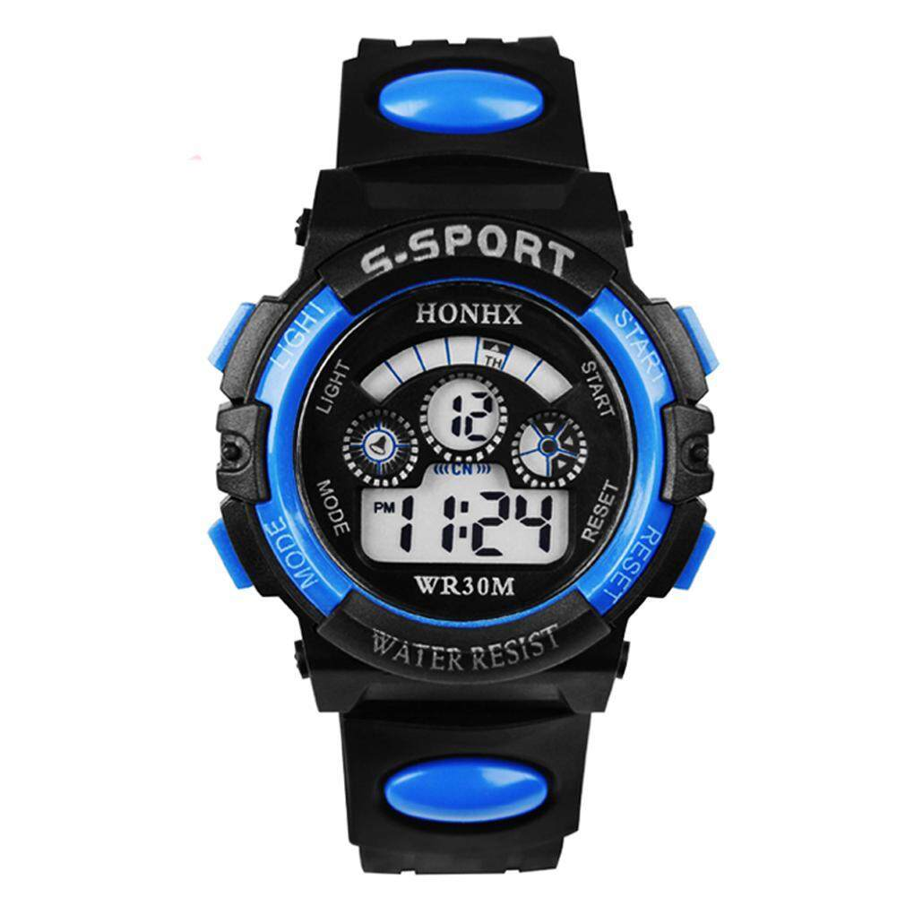 8977f732f548 Multifunction Waterproof Boy Sports Electronic Children Watches (Red)