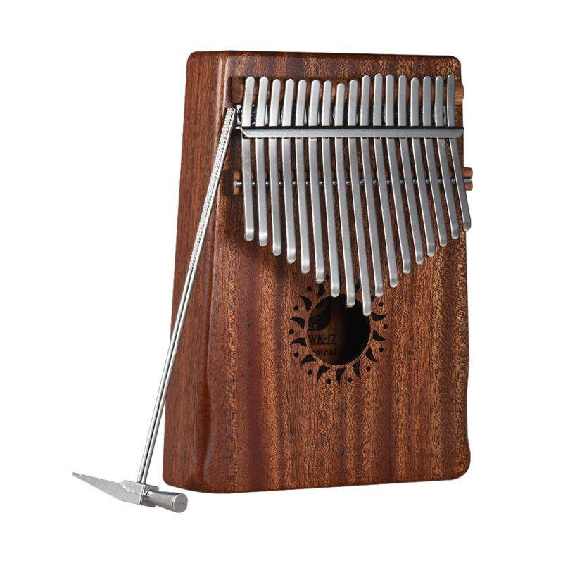 17-Key Portable Kalimba Mbira Thumb Piano Mahogany Solid Wood Musical Instrument Gift Beginner Students Malaysia