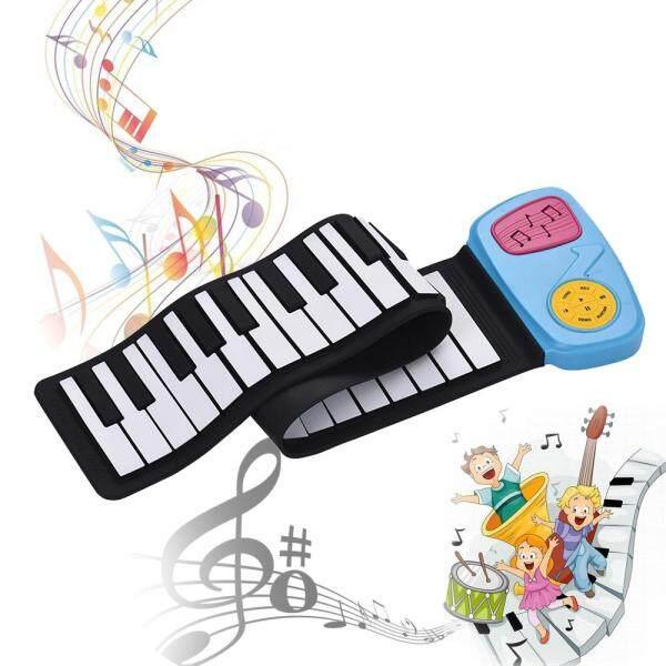 Bàn Phím Điện Tử Silicon 49 Phím Di Động Cuộn Lên Piano Tích Hợp Loa Với Nhãn Dán Hoạt Hình Cho Trẻ Em Trẻ Em