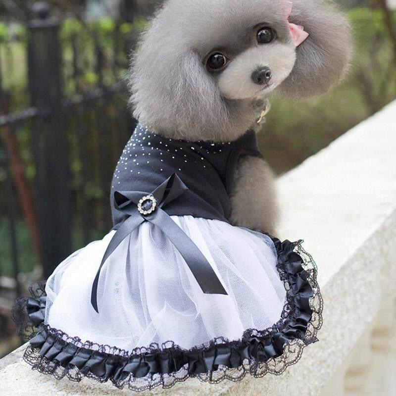 50777a592d Cat Dog Tutu Dress Lace Bow Puppy Costume Apparel Princess Dresses Pet  Clothes - intl