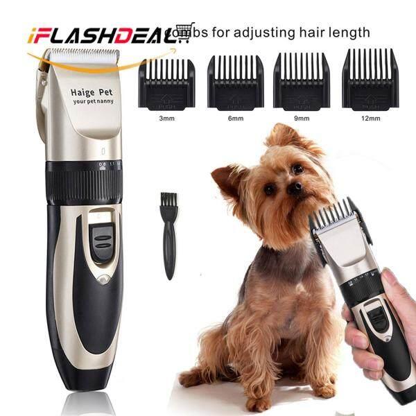 iFlashDeal Pet Cat Dog Tông đơ cắt tóc Bộ dụng cụ cắt điện Động vật cắt tóc động vật Máy cạo râu Đặt máy cắt tóc Pet Cat Dog Hair Trimmer  Electric Clippers
