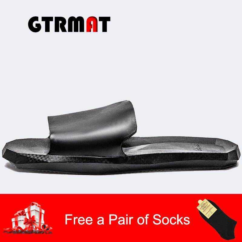 GTRMAT Vietnamese Slipper Lovers' Slippers Summer Korean Version of Men's and Women's Home Indoor Outdoor Slippers, Antiskid Bathroom Bath Cold Slippers Beach Shoes lelaki dan wanita sarung tangan Vietnam