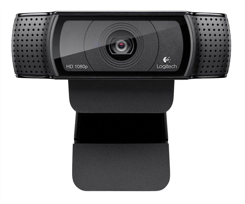 Logitech HD Pro Webcam C920/C920e, Layar Lebar Panggilan Video dan Merekam 1080 P Kamera desktop atau Webcam Laptop