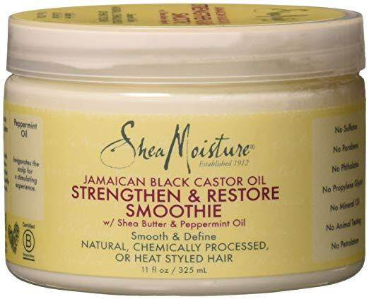 Shea Moisture Jamaican Black Castor Oil Strengthen & Restore Smoothie Cream for Unisex, 12 Ounce