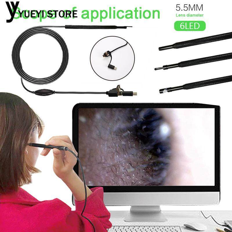 YYSL Endoscope Ear Spoon Borescope 3 In1 2M Monitoring Computers Waterproof