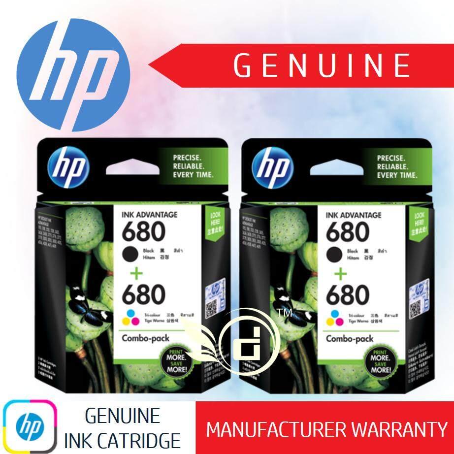 Features Hp Original Ink Cartridge Hp680 Black Printer Deskjet 680 Genuine Value Pack Tri Color X 2
