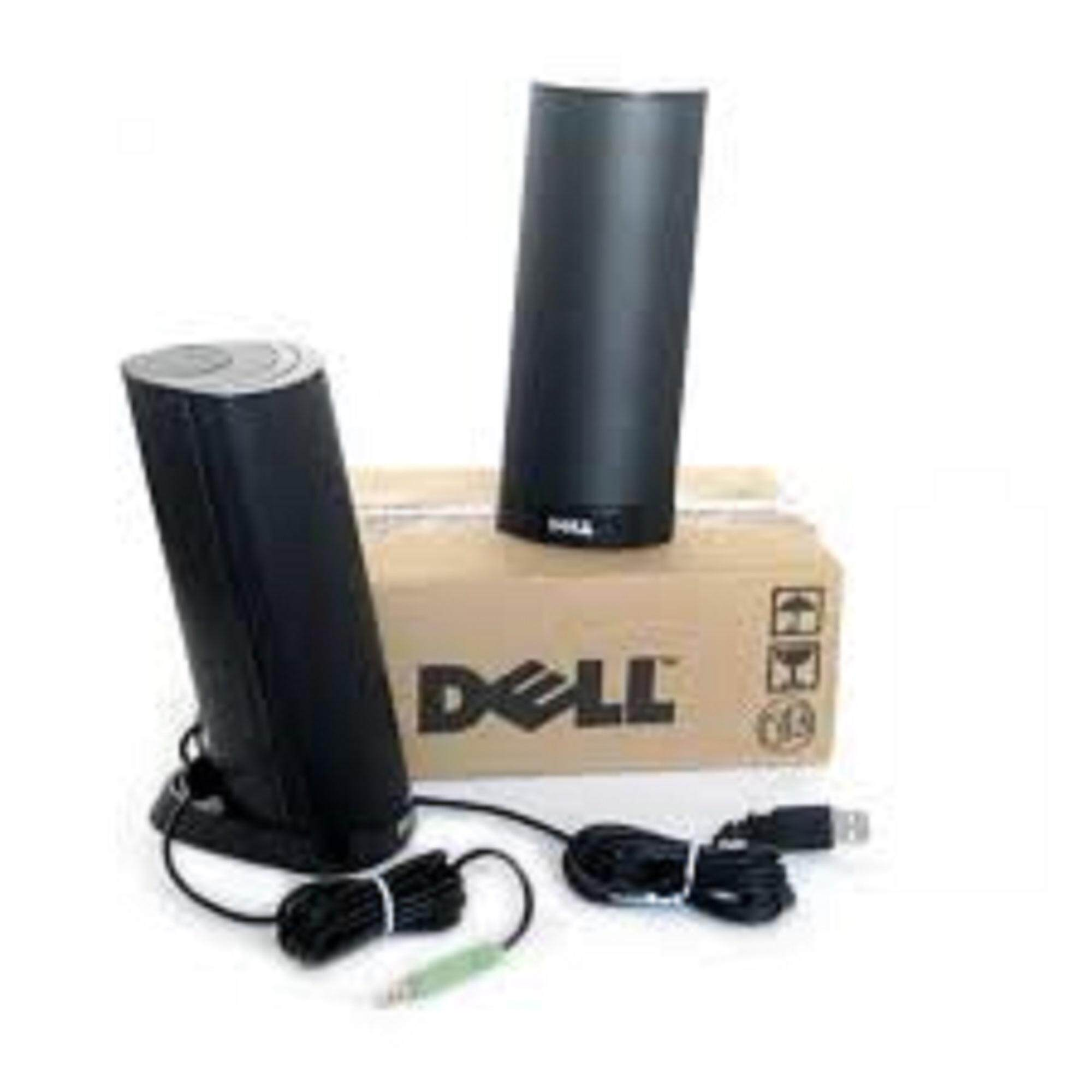 Original Dell AX210 USB Compact 1.2W Stereo Speaker System (Black) Malaysia