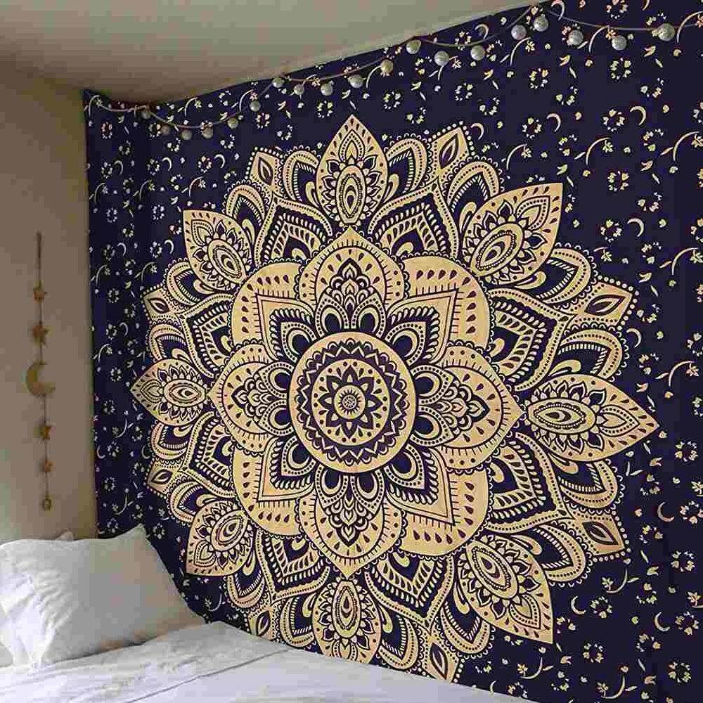 Yuchen Bohemia Mandala Indian Floral Carpet Tapestry For Wall Decoration Fashion Tapestry Beach Blanket 200*150cm (G)