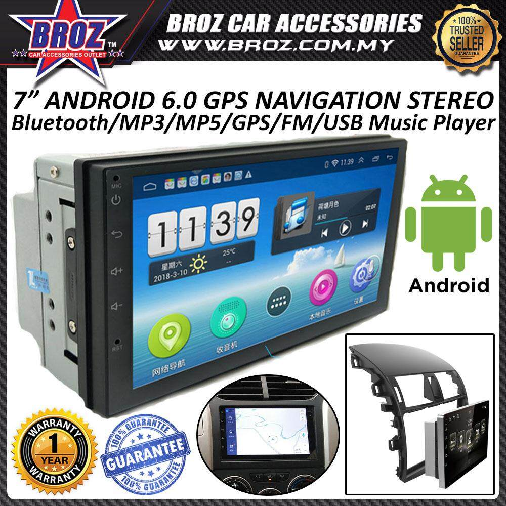 "7"" Android 6.0 GPS Navigation Bluetooth USB MP3 Stereo Music Player MP5 Player"