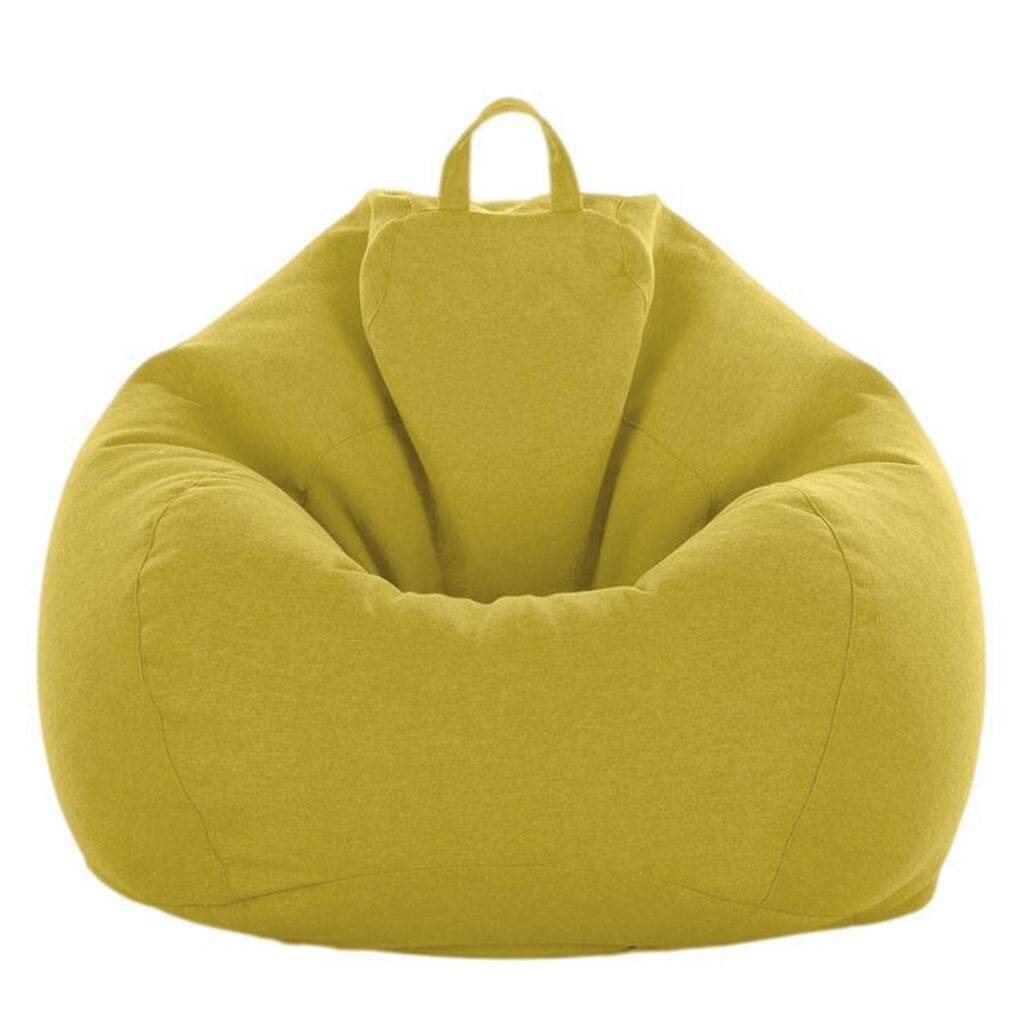 Solid Color Linen Bean Bag Cover Sofa Slipcover