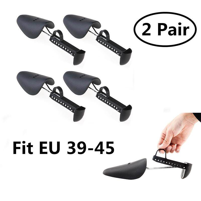 2 Pairs Of Men Adjustable Shoe Tree Stretcher Boot Holder (black) By Eshopdeal.