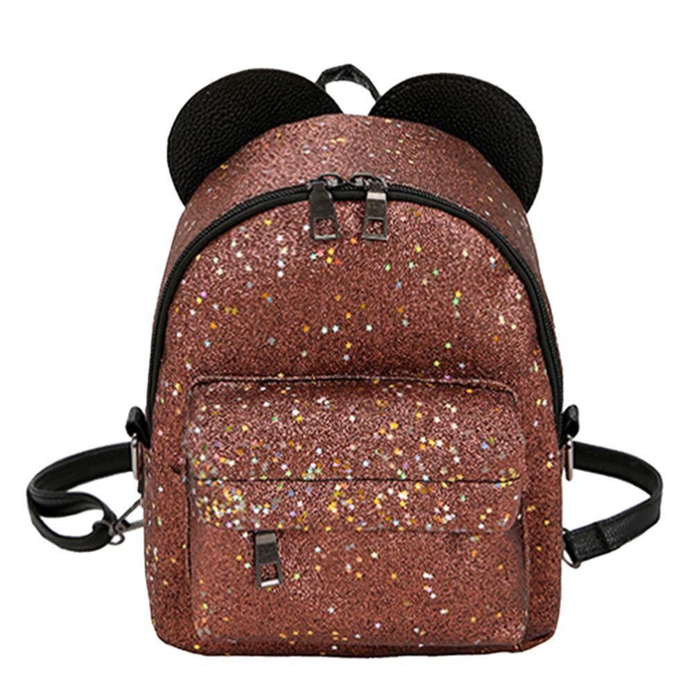 Anything4you Shining Sequins Women Cute Mini Backpacks Girls Princess Shoulder Schoolbag - intl