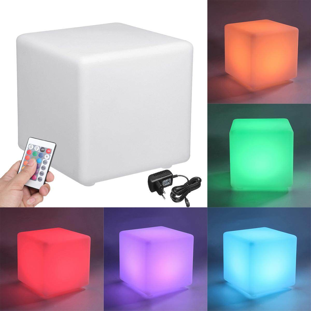 20/30CM Light Up LED Color Changing Cube Stool Seat Chair Bar Wedding Party