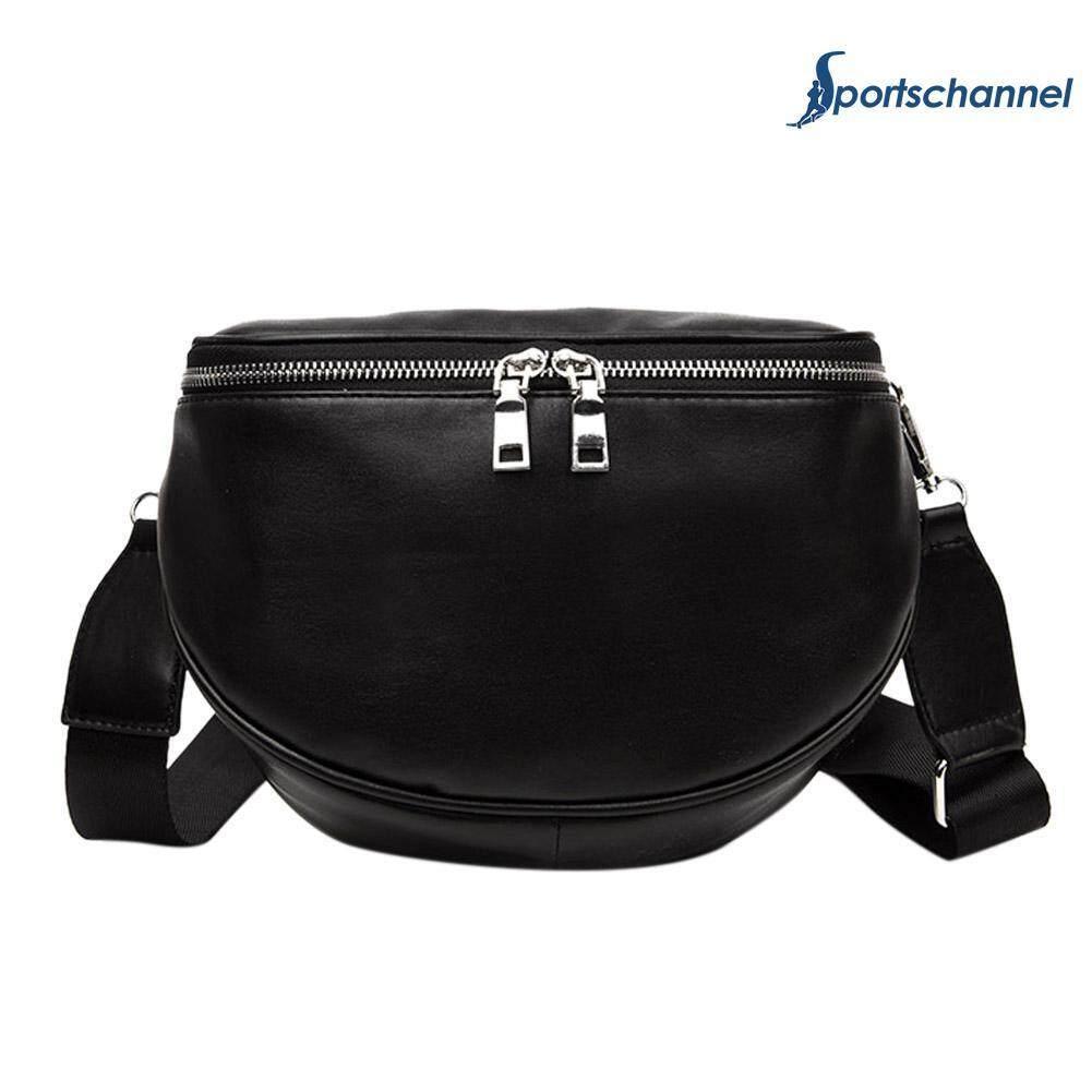 Women Pu Leather Waist Bag Casual Belt Shoulder Zipper Crossbody Chest Bag - Intl By Sportschannel