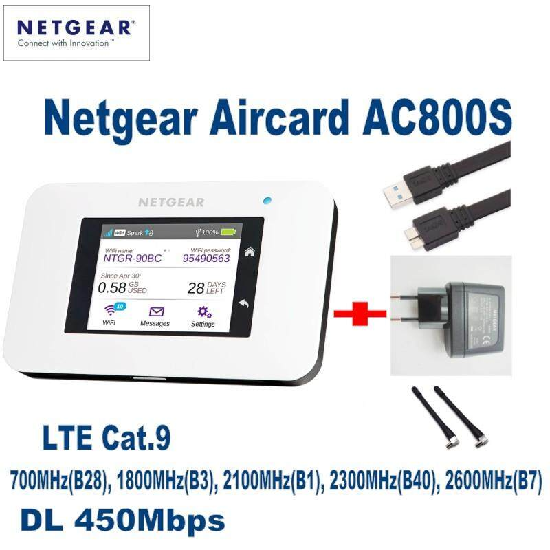 UNLOCKED Netgear Aircard AC800S 4G LTE 450mbps Mobile Hotspot WiFi Router