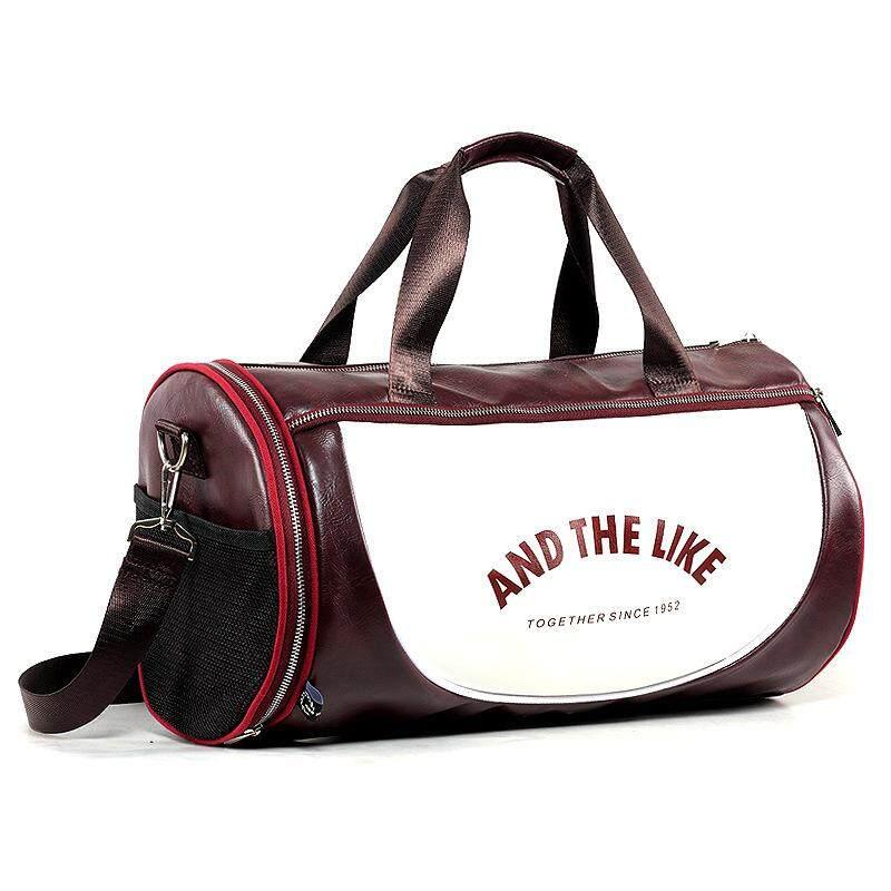 Top Pu Outdoor Sports Gym Bag Men Women With Shoes Storage Training Fitness Multifunction Shoulder Bags Travel Yoga Handbag - Intl By Liyuan.