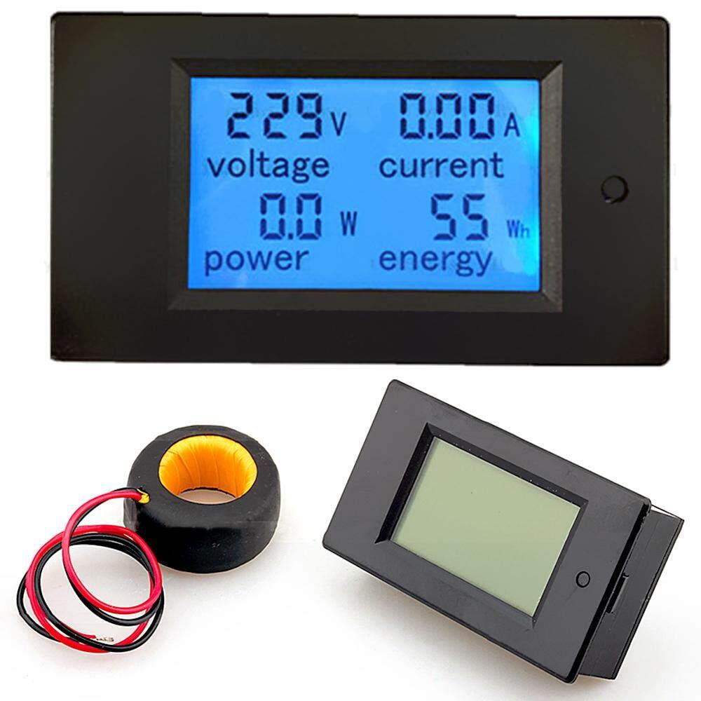 100A AC 80 V-260 V 20A/100A 4 In 1 Panel LCD Digital Digital Power Watt Monitor Saat Ini Tegangan Ammeter Voltmeter KWh Tester Ukuran Multimeter dengan Transformator Arus CT