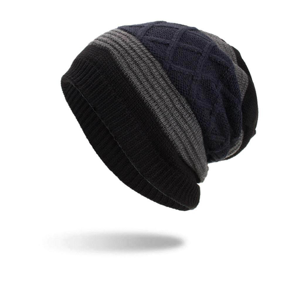 Women Men Warm Baggy Weave Crochet Winter Wool Knit Ski Beanie Skull Caps Hat