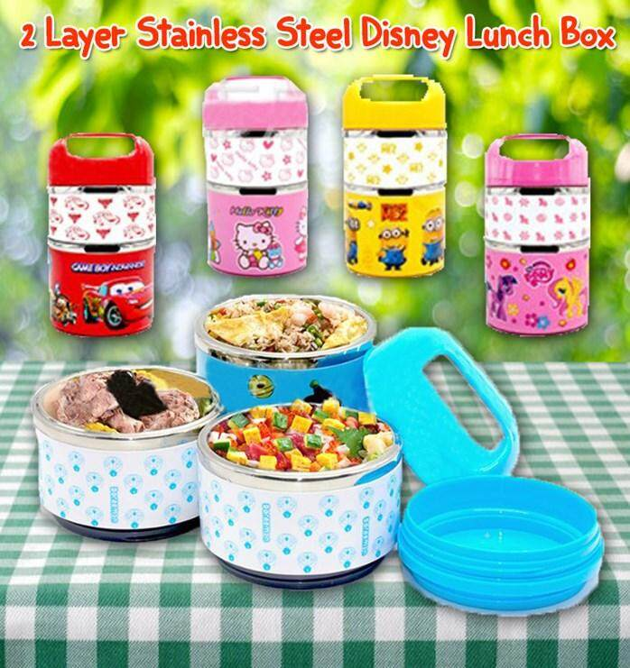 (Car)2 Layer Stainless Steel Disney Lunch Box For Reseller