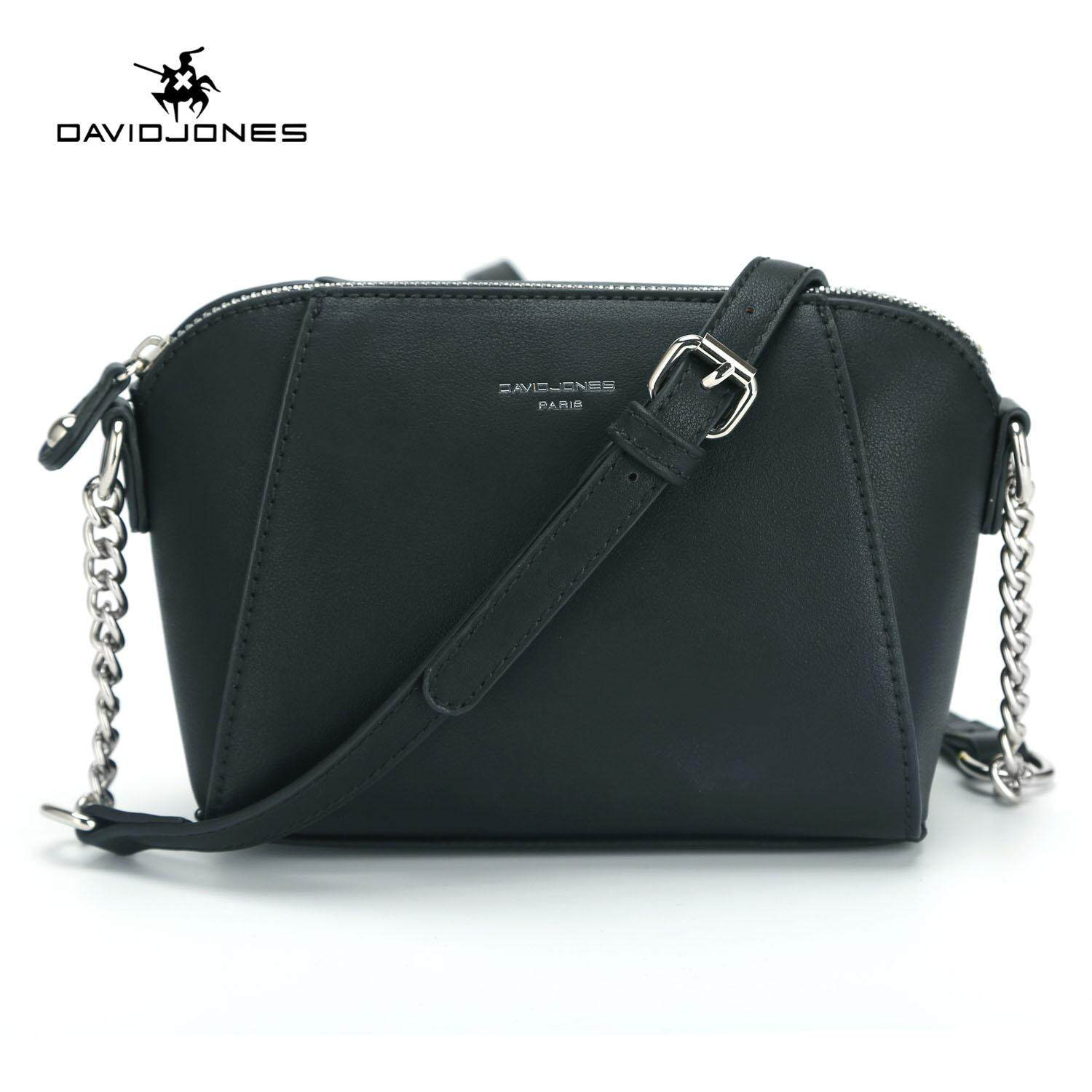 783bbbd69509 DAVIDJONES women handbag pu leather female crossbody bag small lady chain  shoulder bag girl casual messenger
