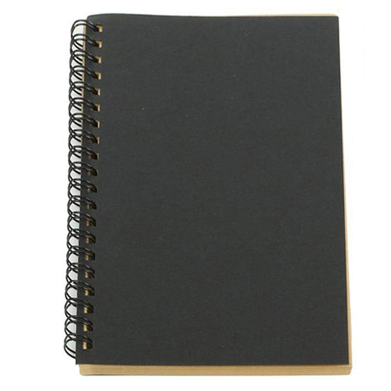 Retro Kraft Coil Sketch Sketchbooks Blank Notebook Creative Notebook School Stationery(Kraft paper and Black