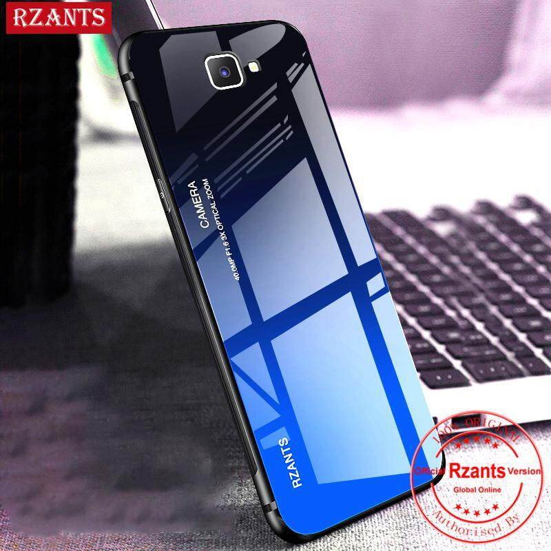 Giá Rzants Ốp lưng cho Samsung Galaxy J7 Prime Case【Gradient】Smooth Tempered Glass Ultra-thin Shockproof Hard Back Phone Casing