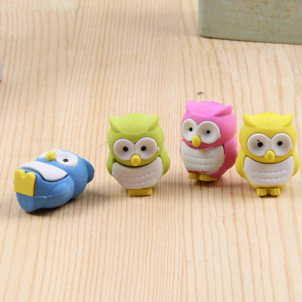 Stationery Rubber Eraser Owl Lovely Trendy Rubber Novelty Design( Random Color) By Darahry.