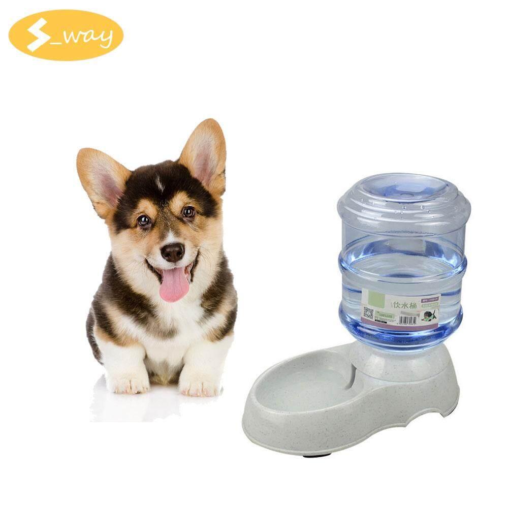 SWAY 3.5L Besar Otomatis Air Mancur Minum Hewan Piaraan untuk Kucing Anjing Plastik Lingkungan Anjing Hewan Peliharaan Dispenser Air