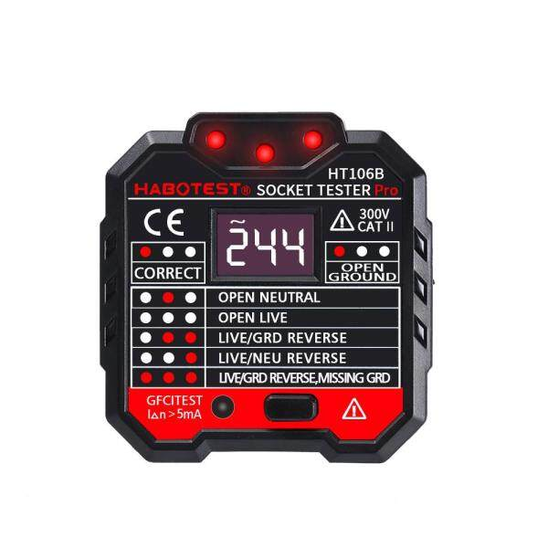 HT106B Socket Outlet Tester Circuit Polarity Voltage Detector Wall Plug Breaker Finder RCD Test - AU / UK / US / EU plug - US plug