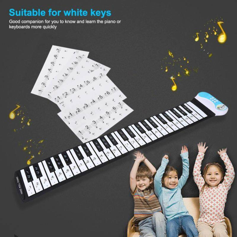 Removable 88 Keys Piano Electronic Keyboard Note White Keys Stickers Labels(Transparent) Malaysia