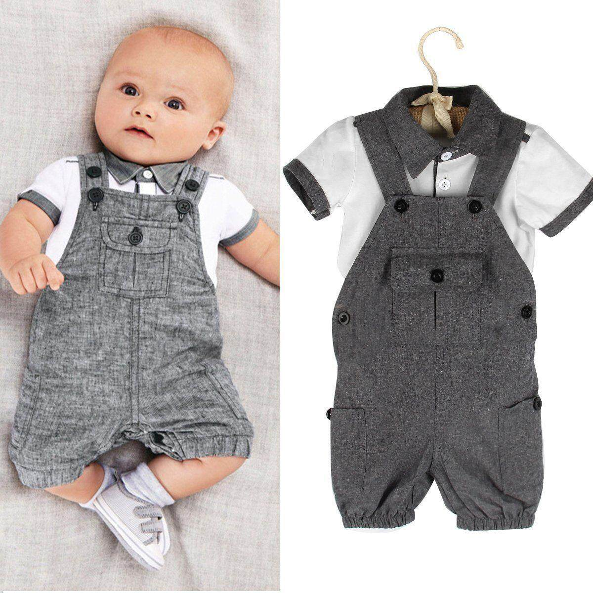 3f03db7976e 2pcs Toddler Infant Newborn Kids Baby Boy Clothes T-shirt Tops+Pants Outfits  Set