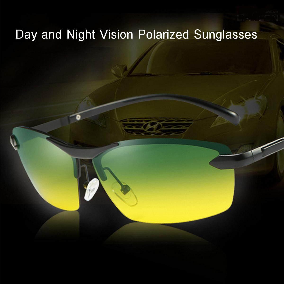 e0c87d22a22 UV Day Night Vision Men s Polarized Sunglasses Driving Pilot Mirror Sun  Glasses