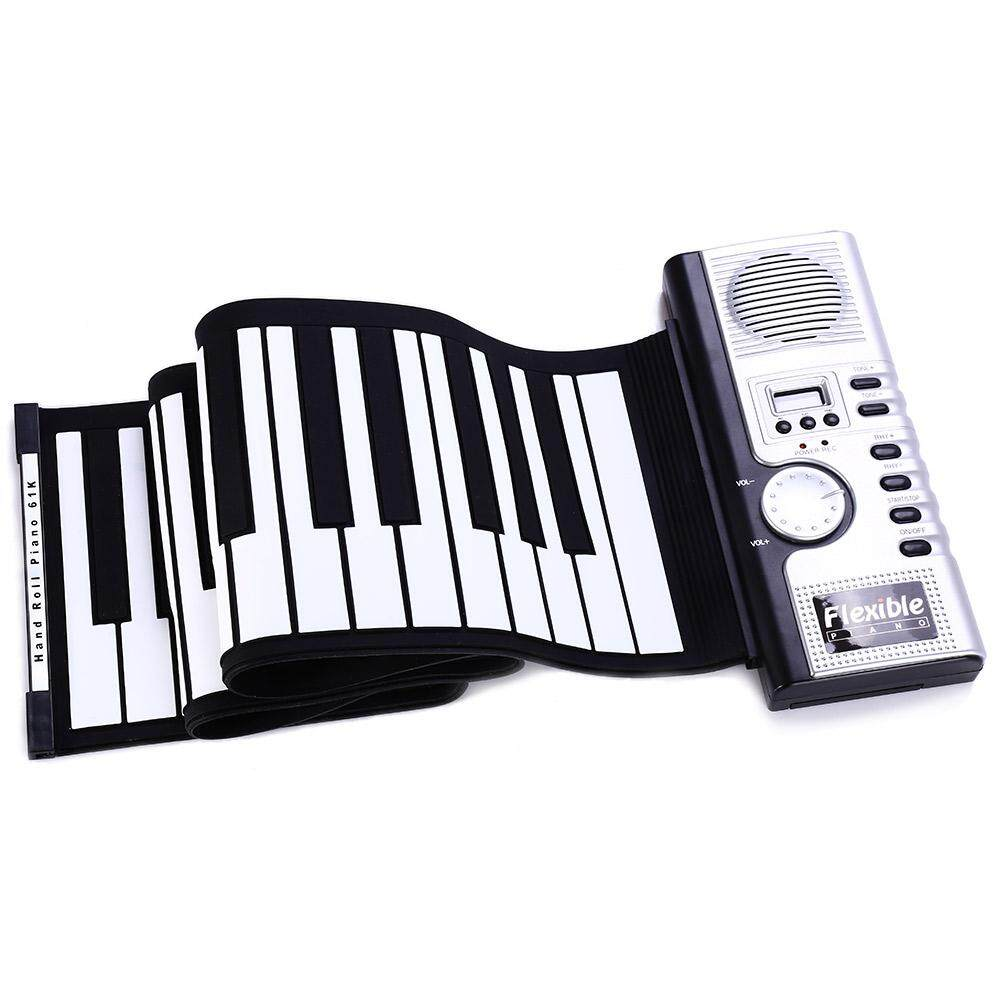 Fleksibel 61 Keys Silikon Midi Digital Roll-Up Keyboard Piano By Tommygo.