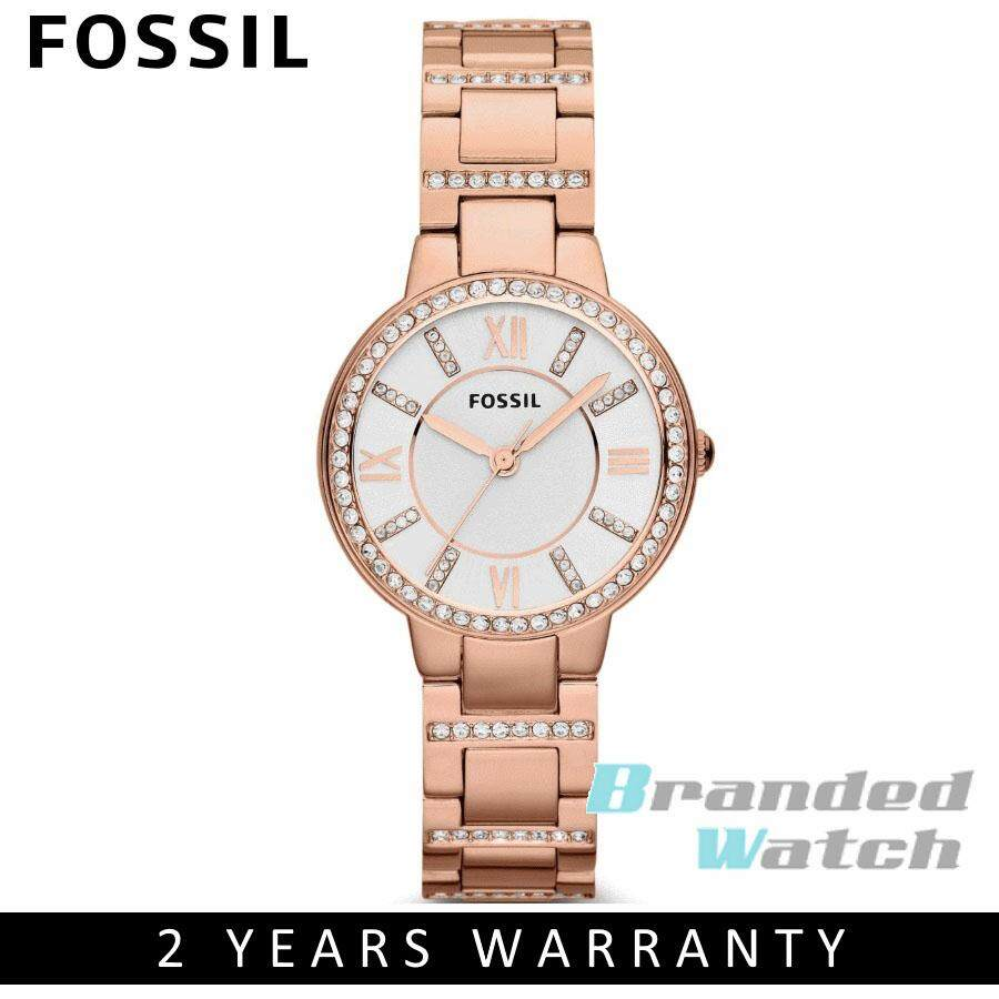 Fossil Watches Price In Malaysia Best Lazada Jam Tangan Automatic Brown Leather Me3027 Es3284 Womens Virginia Rose Toned Steel Watch